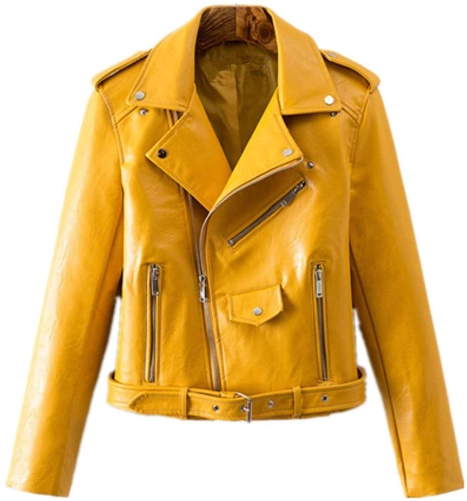 <p>Now, this <span>Luckface Leather Jacket</span> ($39) will cheer you up anytime.</p>