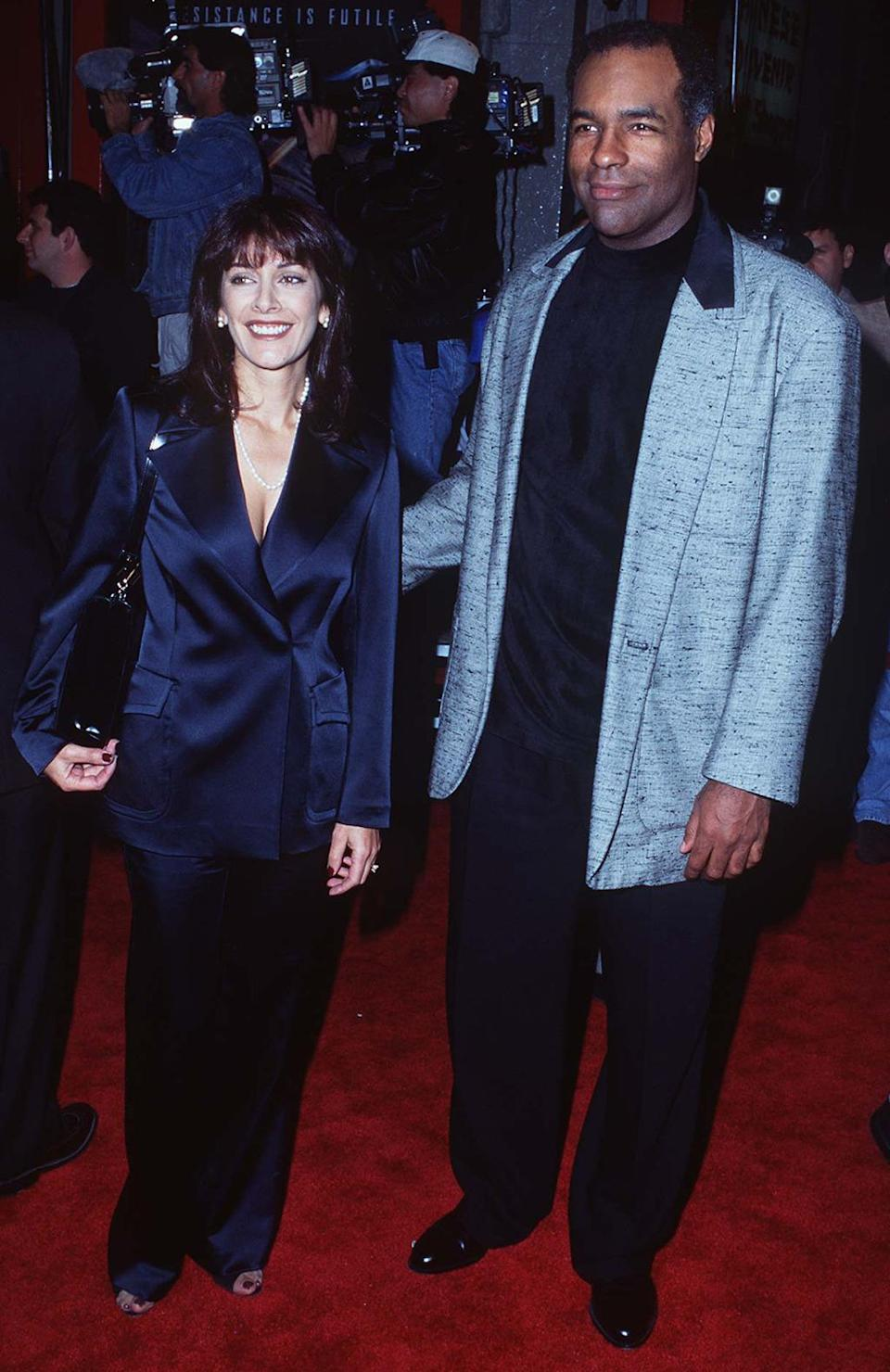 <p>Michael Dorn (Worf, <i>The Next Generation</i>) and Marina Sirtis (Deanna Troy, <i>The Next Generation</i>). Dorn would reprise his Worf role in two episodes of <i>Family Guy </i>years later, while Sirtis voiced Computer in the <i>Star Trek Continues </i>webseries. <i>(Photo: Steve Granitz/WireImage)</i></p>