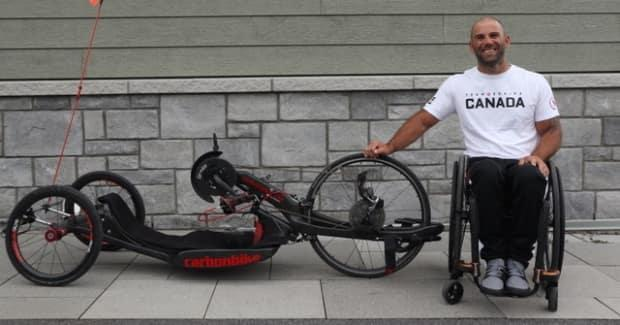 Joey Desjardins severed his spine in a dirt-bike crash in 2009. Twelve years later, he will compete in his first Paralympic Games in para-cycling.     (Submitted by Joey Desjardins - image credit)
