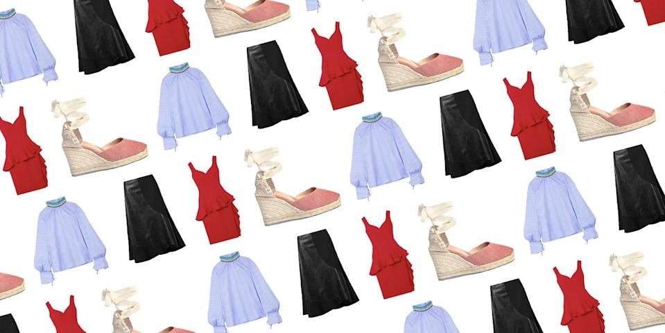 """<p>The """"Middleton-effect"""" and <a href=""""https://www.townandcountrymag.com/style/fashion-trends/a15842273/meghan-markle-effect-demelier-london-mireia-llusia-lindh/"""" rel=""""nofollow noopener"""" target=""""_blank"""" data-ylk=""""slk:&quot;Markle-effect&quot;"""" class=""""link rapid-noclick-resp"""">""""Markle-effect""""</a> are no joke when it comes to shopping. Whether it be putting small designers on the map or wearing a simple pair of heels to a royal outing, the influence that Kate Middleton and Meghan Markle have over the brands we shop always leads to sell-out status. <br><br>Right now, <a href=""""https://www.net-a-porter.com/en-us/shop/sale"""" rel=""""nofollow noopener"""" target=""""_blank"""" data-ylk=""""slk:Net-A-Porter's sale of the season"""" class=""""link rapid-noclick-resp"""">Net-A-Porter's sale of the season</a> is in full swing, boasting up to 50 percent off on luxury designers. Included in the mix are the royal family's go-to brands. From Meghan Markle's favorite summer espadrilles by <a href=""""https://www.net-a-porter.com/en-us/shop/sale/designer/castaner"""" rel=""""nofollow noopener"""" target=""""_blank"""" data-ylk=""""slk:Castañer"""" class=""""link rapid-noclick-resp"""">Castañer</a> to iconic British-designers like <a href=""""https://www.net-a-porter.com/en-us/shop/sale?facet=ads_f10003_ntk_cs%253A%2522VICTORIA%2BBECKHAM%2522"""" rel=""""nofollow noopener"""" target=""""_blank"""" data-ylk=""""slk:Victoria Beckham"""" class=""""link rapid-noclick-resp"""">Victoria Beckham</a> and <a href=""""https://www.net-a-porter.com/en-us/shop/sale?facet=ads_f10003_ntk_cs%253A%2522STELLA%2BMCCARTNEY%2522"""" rel=""""nofollow noopener"""" target=""""_blank"""" data-ylk=""""slk:Stella McCartney,"""" class=""""link rapid-noclick-resp"""">Stella McCartney,</a> the selection of chic finds is worth checking out. </p><p>Whether you're gearing up for wedding season or are looking to add some investment pieces to your wardrobe, now is the perfect time to take advantage. Ahead, you'll find the top 10 Royal-approved brands we've gathered from the endless product pages, then check out the <a href=""""https:/"""