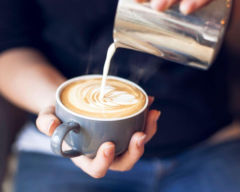"<p>This popular Italian standby is usually 10-12 ounces in volume and is made of one part espresso to two parts steamed milk with a thin layer of milk foam. </p><p><strong>Pro tip:</strong> The latte can be adapted with different flavored syrups, including vanilla, mocha, and of course, pumpkin spice. <br></p><p><em><a href=""https://www.goodhousekeeping.com/food-recipes/cooking/a32896369/how-to-make-a-latte/"" rel=""nofollow noopener"" target=""_blank"" data-ylk=""slk:Get our Latte recipe from the GH Test Kitchen »"" class=""link rapid-noclick-resp"">Get our Latte recipe from the GH Test Kitchen » </a></em></p>"