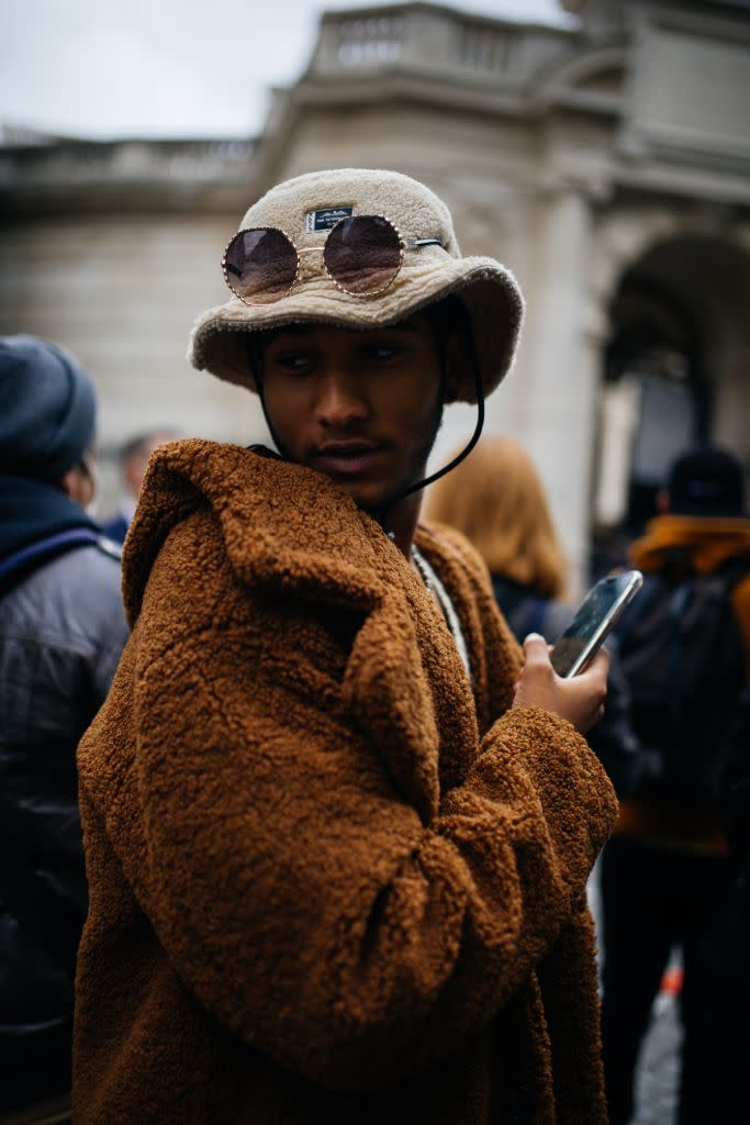 Soft teddy vibes at Paris Men's in January. - Credit: WWD