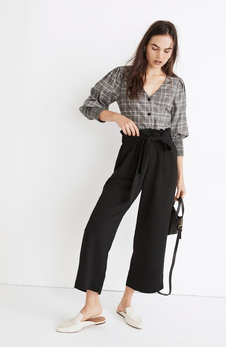 <p><span>Madewell Huston Tie Waist Crop Pull-On Pants</span> ($35, originally $85)</p>