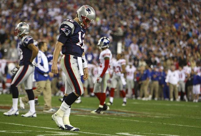 The 2007 Patriots went 18-0 before failing to sew up a Super Bowl title. That sews up the No. 1 spot on our list. (Getty)