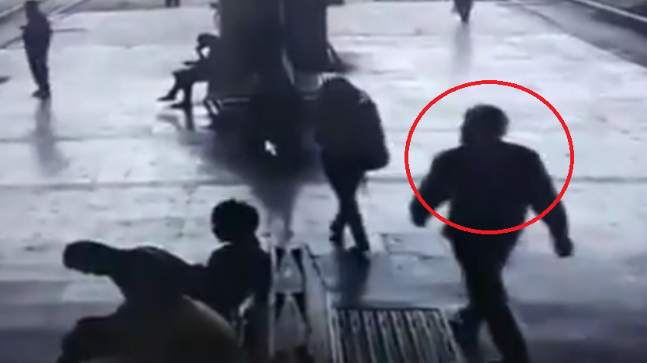 A shocking video from Navi Mumbai has emerged where a man can be seen forcibly kissing a girl at a train station platform.