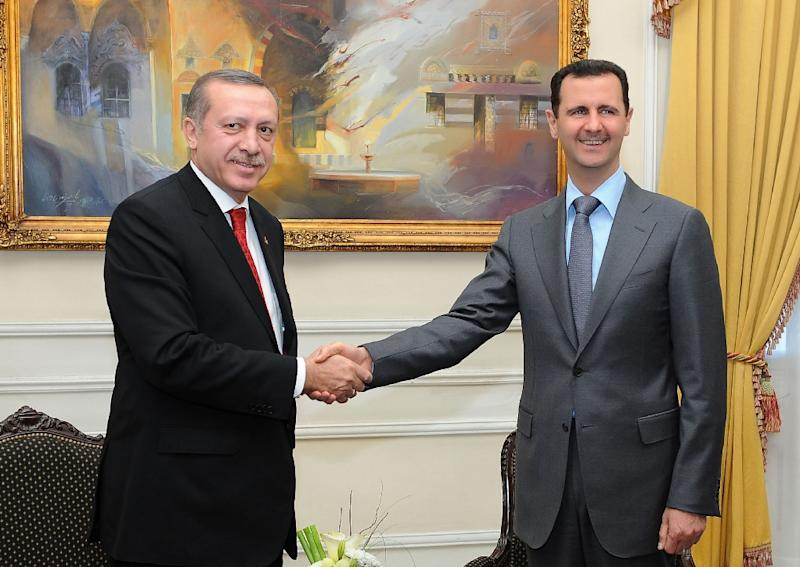 Erdogan and Assad during happier times in 2011