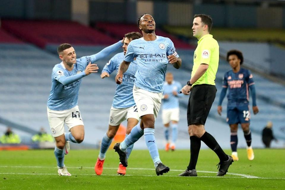 Raheem Sterling celebrates his goal (Getty Images)