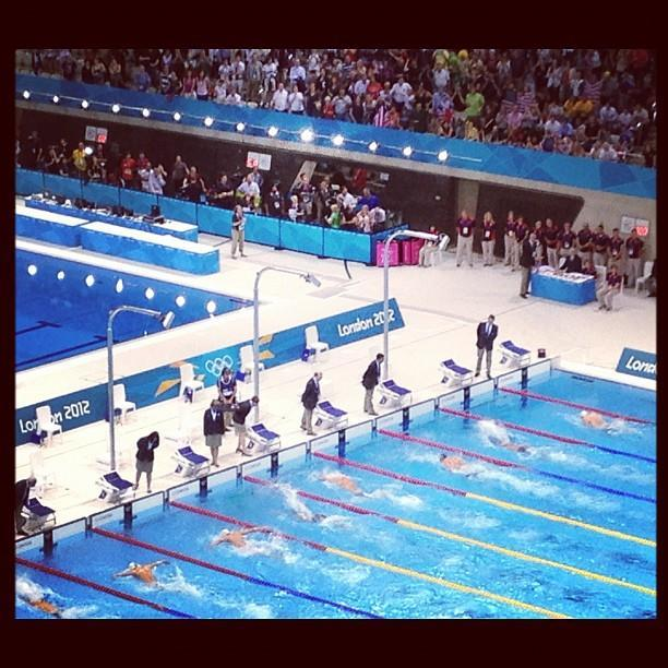 "Via @SummerSanders_: ""Here's a snapshot of @MichaelPhelps' last solo finish in the pool."""