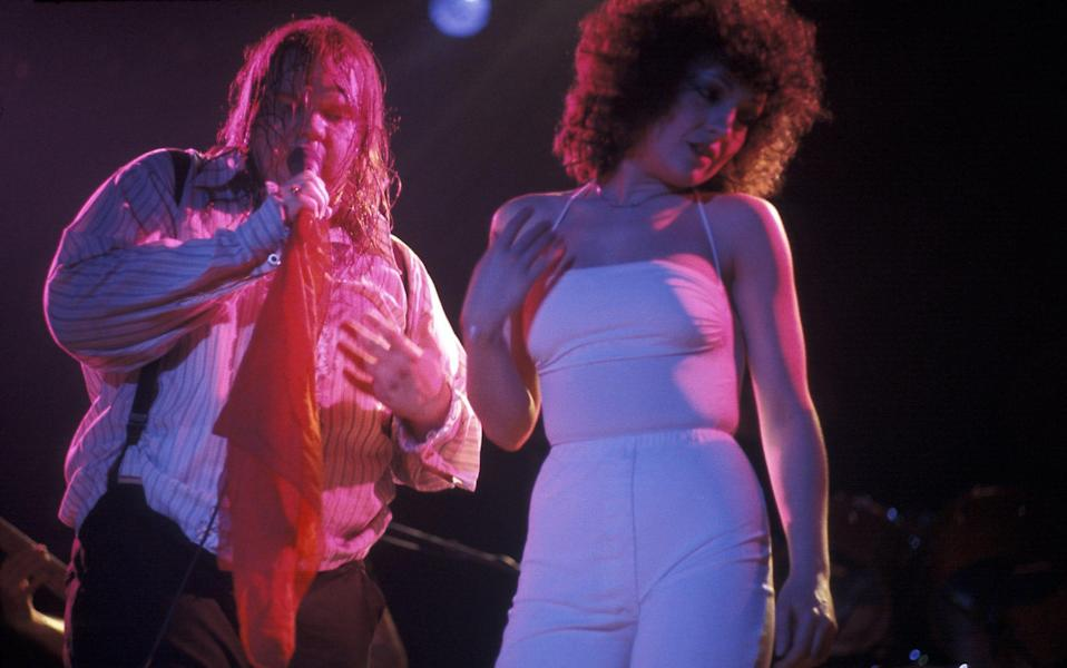 'I cannot believe how far down my throat he is getting his tongue. It was like a full stomach x-ray': Karla De Vito on Meat Loaf, pictured here in 1978 in New York - Waring Abbott