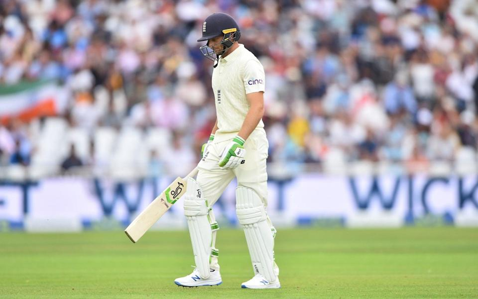 Jos Buttler of England walks back to the pavilion after getting Jasprit Bumrah of India out during day one of the First Test Match between England and India at Trent Bridge on August 04, 2021 in Nottingham, England. - GETTY IMAGES
