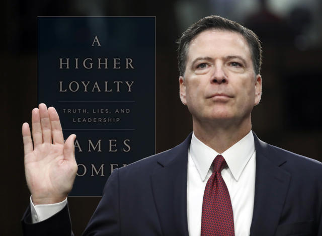 Former FBI Director James Comey. (Photo illustration: Yahoo News; photos: Alex Brandon/AP)