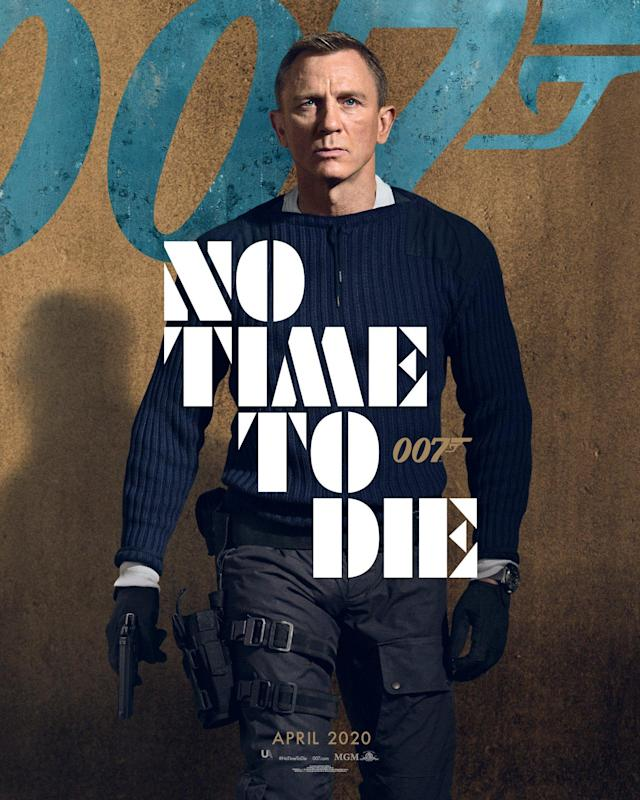 Daniel Craig is returning for the fifth and final time as Ian Fleming's James Bond 007, and judging by this poster he's tooled up and ready for action. (Universal Pictures)