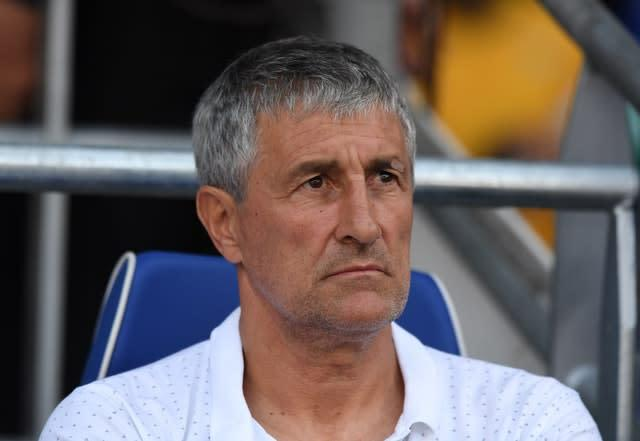 Quique Setien is the Barcelona boss (Simon Galloway/PA)