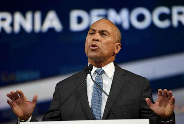 PHOTO: Former Massachusetts Governor Deval Patrick speaks as he kicks off his presidential campaign at the California Democratic Party 2019 Fall Endorsing Convention in Long Beach, Calif. (Mark Ralston/AFP via Getty Images, FILE)