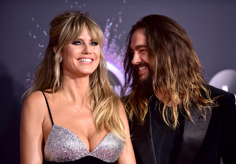Heidi Klum and Tom Kaulitz (pictured last November) are keeping their distance after falling ill amid the coronavirus outbreak. (Photo: Rodin Eckenroth/FilmMagic)