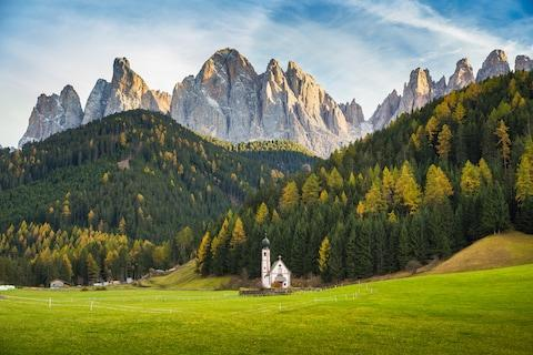 <span>The Dolomites offer a quirky blend of Italy and Austria</span> <span>Credit: GETTY </span>