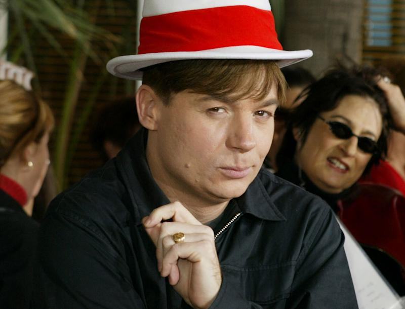 Mike Myers at the 'The Cat In The Hat' premiere - Credit: Getty Images