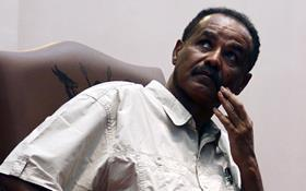 Eritrea's President Isaias Afwerki at a news conference held in Uganga in 2011.