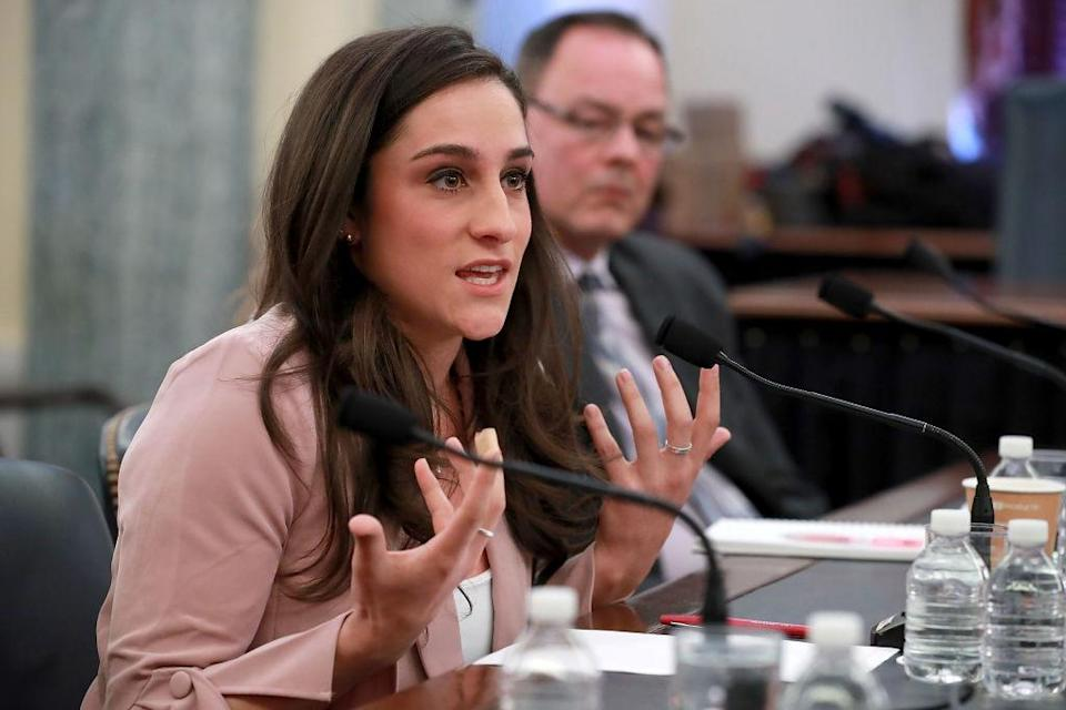 Jordyn Wieber testified before a Senate subcommittee about the abused athletes who should have been protected. (Photo: Getty Images)