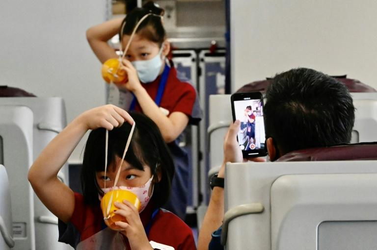 Taiwanese airlines are offering role-play courses for children and sight-seeing flights as they try to drum up some alternative business during the pandemic