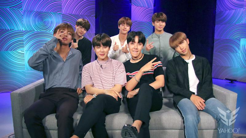 BTS spoke to Yahoo Esports about their favorite esports team. (Yahoo Esports)