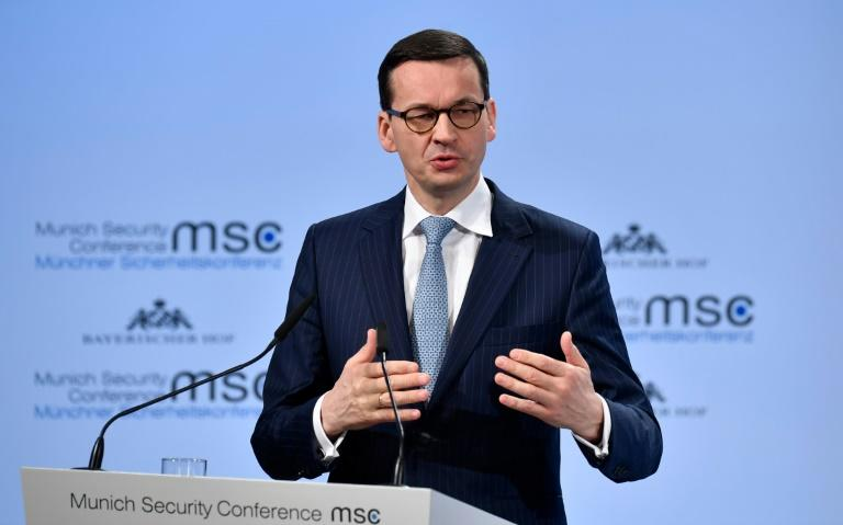 """Polish Prime Minister Mateusz Morawiecki came under fire for a remark saying the Holocaust had involved """"Jewish perpetrators"""" as well as Polish ones"""