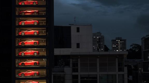 This Gigantic Vending Machine Spits Out Actual Ferraris