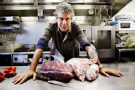 <p>In 2005, Fox picked up a scripted series based on <em>Kitchen Confidential</em>, featuring a chef named Jack Bourdain. The showed aired for only four episodes in the fall of 2005 before it was canceled. Here, Bourdain poses in a kitchen in Sydney, Australia on March 17, 2005. </p>
