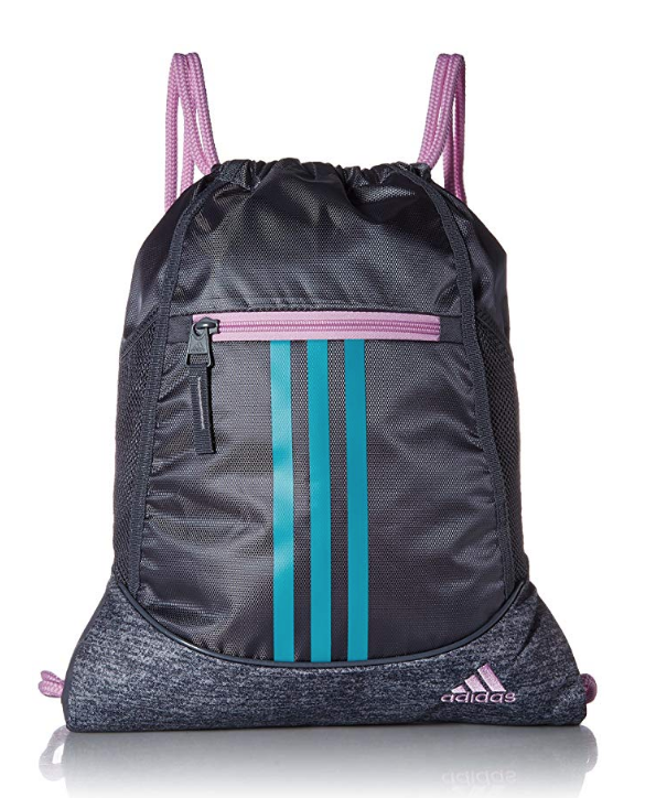 """<p><strong>adidas</strong></p><p>amazon.com</p><p><strong>$21.99</strong></p><p><a href=""""http://www.amazon.com/dp/B077MMSTJX/?tag=syn-yahoo-20&ascsubtag=%5Bartid%7C10055.g.28719637%5Bsrc%7Cyahoo-us"""" target=""""_blank"""">Shop Now</a></p><p>Maybe you don't feel like carrying your life in your bag. This sackpack will fit just the essentials — no bulkiness! </p>"""