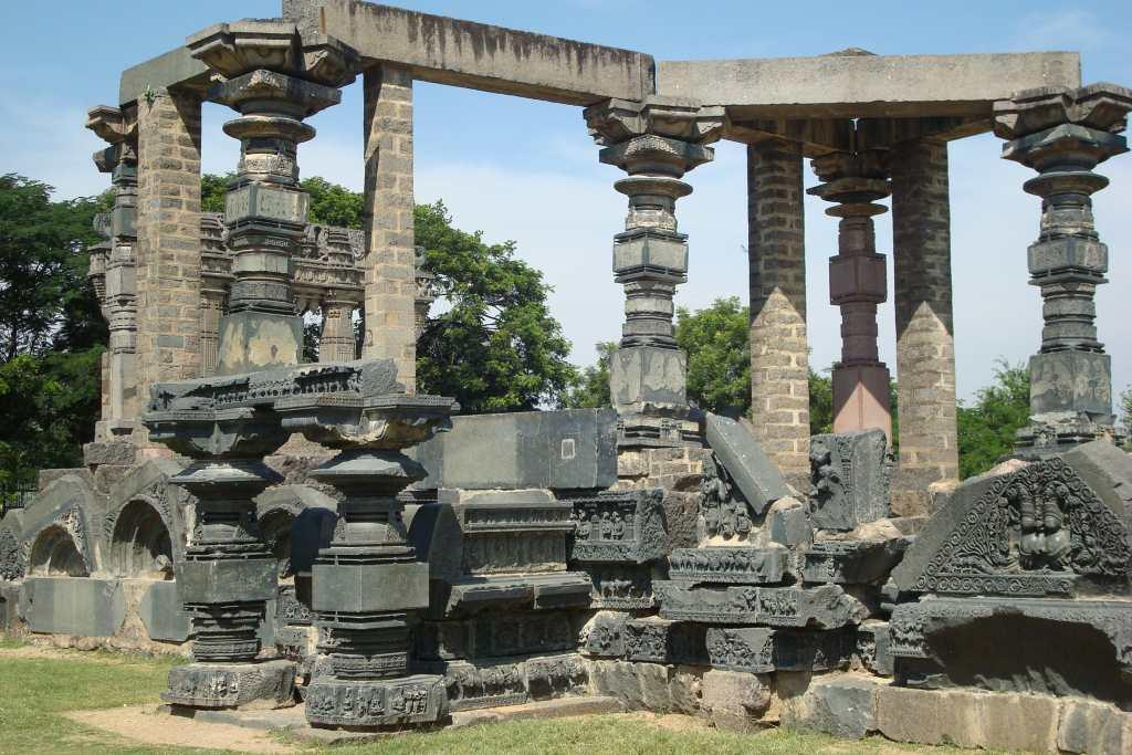 "<b>11.	Warangal, Andhra Pradesh <br></b><br>An entire settlement lives within the fortified walls of a dusty town that was once the capital of the Kakatiya dynasty. As you drive through the walls, the fort transforms into an open art gallery taking you to the glory of the Kakatiya kings. There are sculptures strewn all around and enclosing them are four massive stone pillars standing tall at 30 feet high, each facing a cardinal direction. A Shiva temple is surrounded by ornate pillars, shorter than the four main massive pillars. These tall gateways, symbolize ""gateways of glory"" and are called Kirti Thoranas, the seat of the Kakatiyas in Warangal. A couple of elephants, another Nandi, yalis, a few pillars, broken sculptures, a gaja kesari and even an old throne lies enclosed by the kirti toranas, open to the skies. Sit here and listen to tales of the dynasty or just walk along the old settlement.<br><br><b>READ MORE:</b> <a target=""_blank"" href=""https://in.lifestyle.yahoo.com/photos/monsoon-magic-a-railway-trek-to-dudhsagar-falls-slideshow/"">Where history lies forgotten</a>"