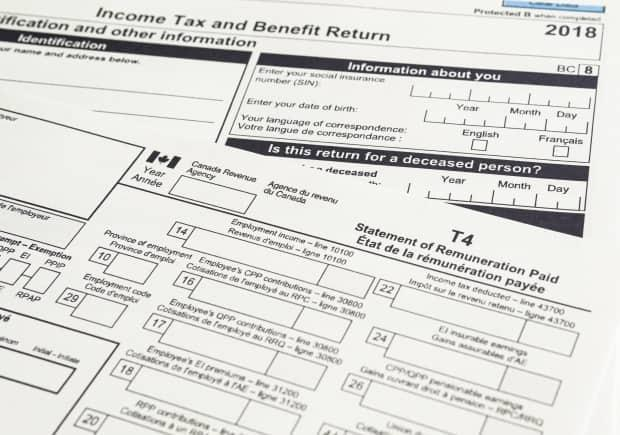 Canadian T1 and T4 tax forms are used to prepare taxes. (Primestock Photograpy - image credit)