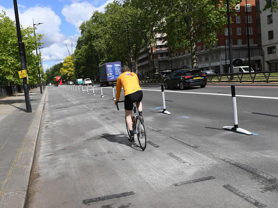 <p>Are pop-up cycle lanes doing more harm than good?</p> (PA)