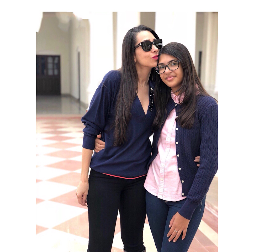 <p>Karisma took to her IG handle and shared this picture of her beautiful daughter on her 13th birthday this year. Sanjay Kapur's present wife Priya Sachdev also extended her heart-felt wishes toward the teen. Though Karisma and Sanjay had a bitter divorce, we hear, Sanjay's present wife, Priya, shares a fond relation with both of Karisma's children. </p>