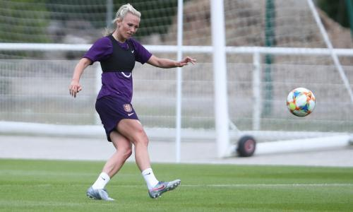 "Barcelona winger says players are happy with their manager's firm support for a Pep Guardiola-like playing strategy. It may be stretching a point to describe Phil Neville as the ""new Pep Guardiola"" but Toni Duggan has detected pronounced similarities between England's manager and his Manchester City counterpart. Although the Lionesses' much-vaunted stylistic evolution still has some way to go before it can be described as ""Phil-tastic"", Barcelona's Duggan is not alone in drawing comparisons between the pair's philosophies. As she perches on a stool on a hotel terrace overlooking a vertiginous Provençal hillside close to the medieval town of Valbonne, the former Manchester City forward is asked how far Guardiola's legacy has permeated beyond the Camp Nou and the Etihad. ""At Barcelona all men's and women's teams have the same style and philosophy,"" she says. ""We're constantly doing rondos [possession-based training exercises] and it's the same with Phil's England. It's the same football language. "" Barcelona have been playing out from the back since they were babies and we're not far behind now. That's the way Phil wants to play. He's lived in Spain so he's probably robbed a few ideas from Valencia."" Wednesday'sgame in Nice against a Japan side big on sharp passing and rapid movement – when a draw will be sufficient for England to finish top of Group D and a newly fit Duggan could start – promises to road-test the practicalities of Neville's blueprint. It should serve as a marker illustrating the precise depth and scale of the Lionesses' recent metamorphosis. ""We were super successful under Mark [Sampson] because we were so direct and played to people's strengths,"" says Duggan, a key component of the squads that reached the semi-finals of Canada 2015 and Euro 2017. ""But Phil's come in with his philosophy; football's transitioning and everyone's trying to play out from the back now."" Following fashion is all very well – and, in a football context, sometimes necessary – but Duggan appreciates that a certain compromise is also called for. ""In Spain they're never direct and that frustrates me,"" she says. ""So Phil's philosophy doesn't mean we're never going to do a long ball; we have great players who can run in behind at great pace. It's about finding that balance and analysing the opposition's strengths and weaknesses."" During her City days she became intrigued by Guardiola. ""I'm interested in him a lot,"" she says. ""Whenever I met him I just thought he was a lovely person, a real gentleman. "" Every club has legends and at Barcelona Cruyff and Pep are going to be spoken about forever; knowing what they've achieved and in what style."" Some long-standing England watchers suspect the degree of Guardiola-esque tactical change has been exaggerated under Neville while others fear they are taking too many risks passing sideways at the back. Neville remains evangelical about his revolution. ""We work on sequences of six, seven, eight, nine passes, which means you control games,"" he explains. ""But in the second half against Scotland [a 2-1 win] we started playing walking, standstill football, got sloppy and our pass count dropped."" He was happier with the 1-0 victory against Argentina when his centre-backs, Steph Houghton and Abbie McManus, completed more passes than all the opposition players put together. ""We went from side to side, back, forward,"" says McManus, who has just swapped Manchester City for Manchester United. ""The more times we went sideways, the more gaps started appearing. It's the way I've played at City where the coach, Nick Cushing, speaks to Pep quite a lot and they've tried to put the men's coaching style into the women's teams."" After recovering from a shoulder injury Millie Bright is likely to be challenging McManus for a starting place against Japan and, as she takes her seat on a terrace with stunning views tumbling down towards the Mediterranean, the Chelsea defender is similarly on message. ""The players prefer this new style,"" she says. ""We want to be on the ball, passing and being confident and brave. But you have to be able to read the game and your options vary depending on if the opponents does low block, mid-block or press. It's about always making sure you've got an outlet. ""Phil's always saying we've got to be brave. You'll never be punished for losing the ball because he wants you to keep getting on it, and the only way to improve is to keep doing it repetitively."" Guardiola would surely approve. ""At City you'd see Pep chewing someone's ear off about football and think: 'wow' I'd love to ask a question but I'd probably be there for a week,"" says Duggan. ""Once I was doing some extra running - you might be surprised about that - and he came and stood watching me. I was knackered. I was like, 'oh, bloody hell, do I stop? Shake his hand? Carry on and pretend that I can't see Pep Guardiola'? I went to stop and he was, 'no, no - continue'. I thought 'oh my God'. I did about two shuttles and then he walked away; I was like, 'wow, thank God'."""