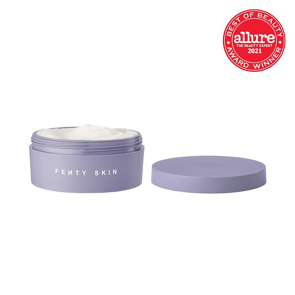 <strong>Fenty Skin Butta Drop Whipped Oil Body Cream</strong> is exactly what it sounds like: a decadent, buttery emulsion. The lightweight finish, however, defies explanation.