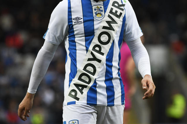Huddersfield Town's jersey during the pre season friendly with Rochdale. (Credit: Getty Images)