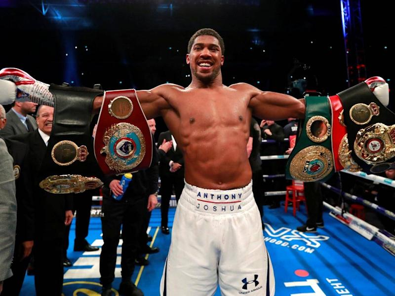 Anthony Joshua is the current IBF, WBO and IBO champion (Reuters)
