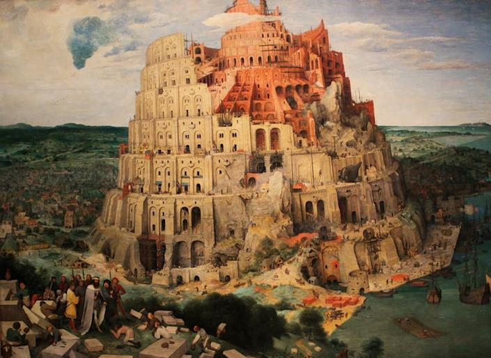 """<span class=""""caption"""">Tower of Babel: this is where the problems all started.</span> <span class=""""attribution""""><span class=""""source"""">Pieter Brueghel the Elder via Shutterstock</span></span>"""