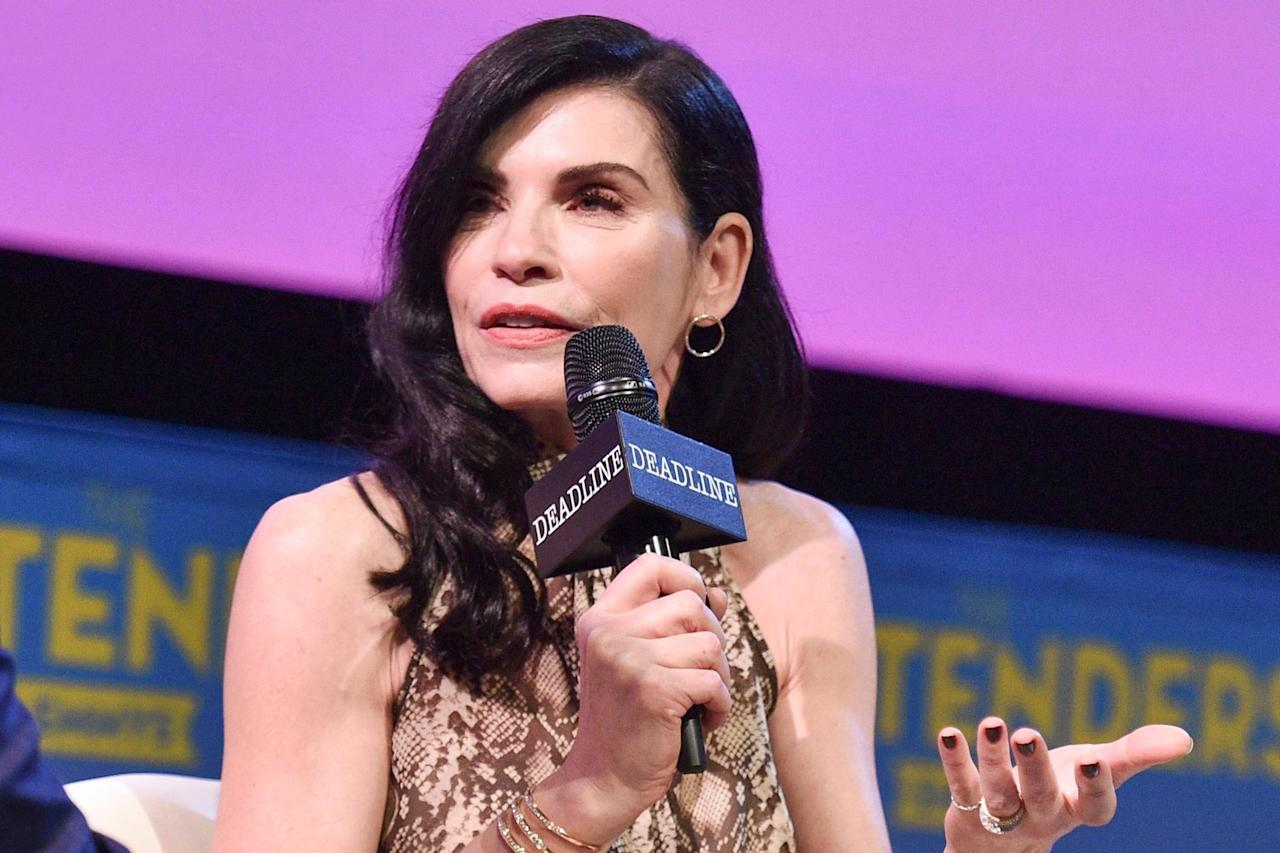 "<a href=""https://people.com/tag/julianna-margulies/"">Margulies</a> said she nearly reprised <a href=""https://people.com/tv/julianna-margulies-first-post-good-wife-series-role-dietland/"">her Emmy-winning role of Alicia Florrick</a> on the third season of <em>The Good Fight — </em>CBS All Access' spinoff to <em>The Good Wife — </em>but ultimately turned it down when CBS allegedly wouldn't meet her rate.  ""<a href=""https://deadline.com/2019/04/julianna-margulies-the-good-fight-pay-good-wife-cbs-all-access-1202590243/"">To be perfectly honest, I was shocked</a>,"" Margulies told <em>Deadline</em>. ""I was more surprised than hurt. I thought, 'What are you worth?' ""  ""I'm not a guest star; I started the whole thing with <em>The Good Wife</em>,"" Margulies said. ""I wanted to be paid my worth and stand up for equal pay. if Jon Hamm came back for a <em>Mad Men</em> spinoff or Kiefer Sutherland wanted to do a <em>24</em> spinoff, they would be paid.""  ""If you are worthless, if you are not valued for your work, than what's the point?"" she added."