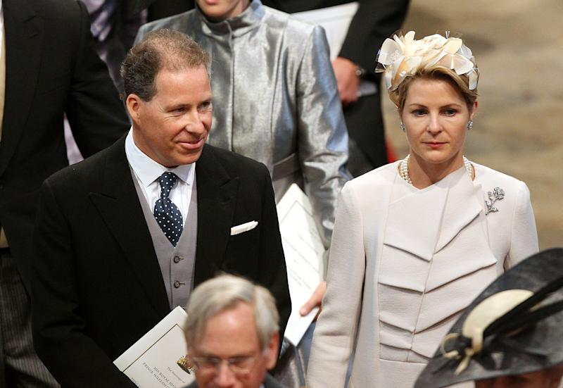 """File photo dated 29/04/2011 of the then Viscountess and Viscount Linley at Westminster Abbey for the wedding between Prince William and Kate Middleton, The Earl of Snowdon, the son of the late Princess Margaret, and his wife the Countess of Snowdon have """"amicably agreed"""" that their marriage has come to an end and will divorce, a spokesman for the couple has said."""