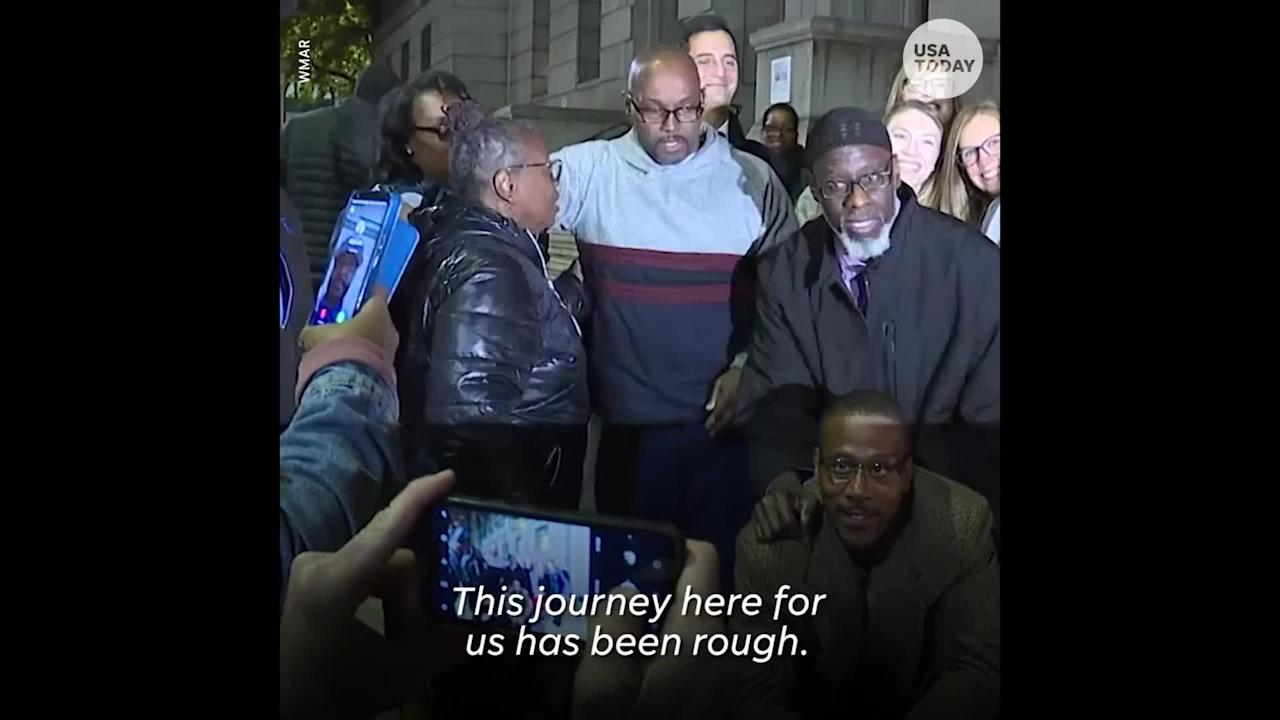 After 36 years in prison for murder they did not commit, 3 Baltimore men finally walk free