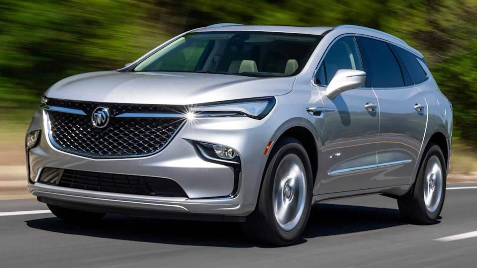 2022 Buick Enclave SUV, with refreshed looks and interiors, revealed