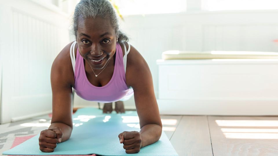 Woman working out to maintain a healthy weight