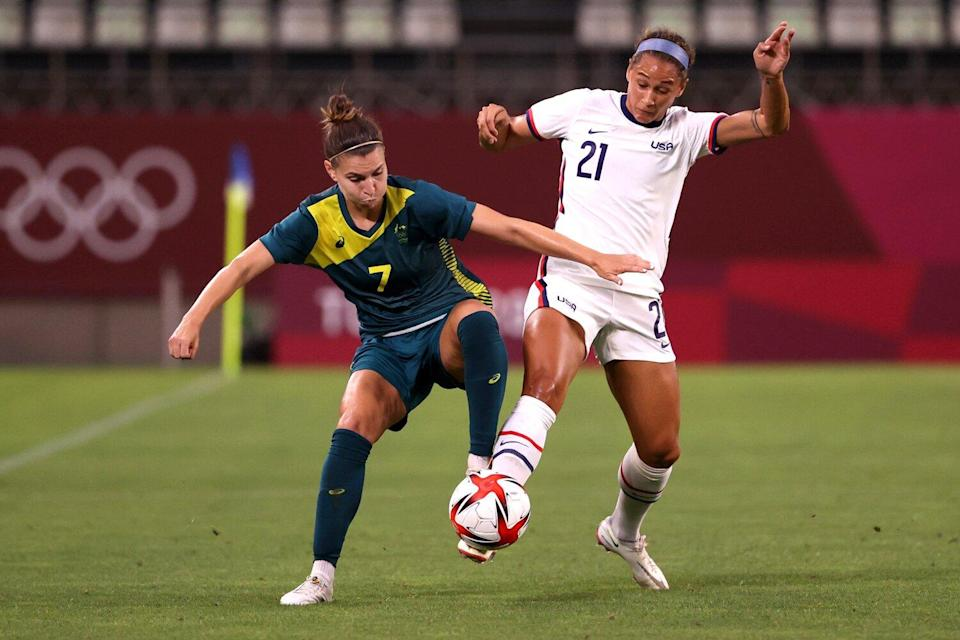 Tokyo 2020 Olympic Games women's group G first round football match between USA and Australia