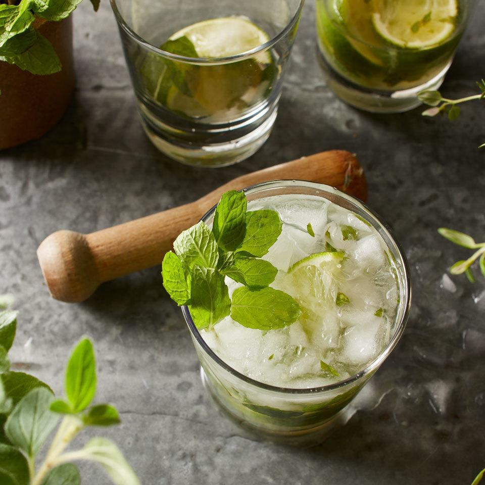 <p>Fresh mint and zesty lime combine to create a flavor base for this classic rum cocktail. We use superfine sugar to ensure it all dissolves for the smoothest refreshing mojito.</p>