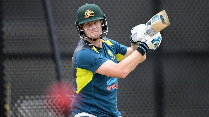 CRICKET AUSTRALIA TRAINING SMITH