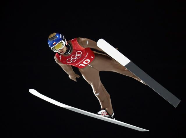 Ski Jumping - Pyeongchang 2018 Winter Olympics - Men's Team Trial round - Alpensia Ski Jumping Centre - Pyeongchang, South Korea - February 19, 2018 - Maciej Kot of Poland competes. REUTERS/Dominic Ebenbichler