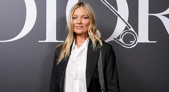 Kate Moss has revealed her ultimate beauty secret is an affordable SPF. (Getty Images)