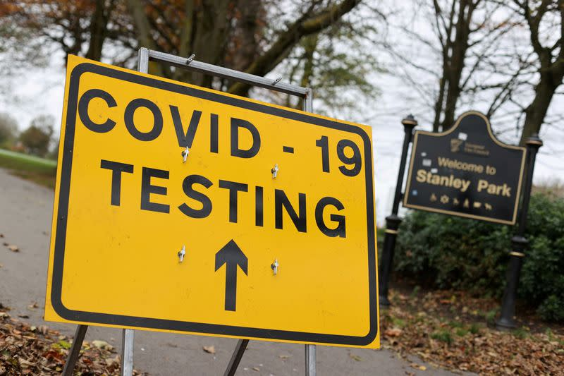 FILE PHOTO: The outbreak of the coronavirus disease (COVID-19), in Liverpool