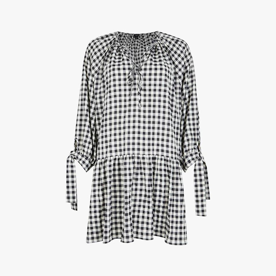 "$70, NORDSTROM. <a href=""https://www.nordstrom.com/s/river-island-mindy-gingham-long-sleeve-smock-dress/5942177"" rel=""nofollow noopener"" target=""_blank"" data-ylk=""slk:Get it now!"" class=""link rapid-noclick-resp"">Get it now!</a>"